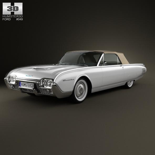 3DOcean Ford Thunderbird 1961 3614741
