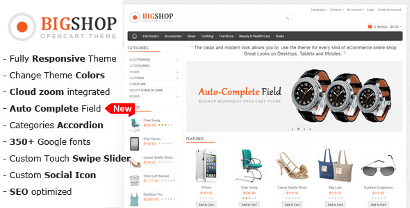 ThemeForest Bigshop Multi-Purpose Responsive OpenCart Theme 3255847