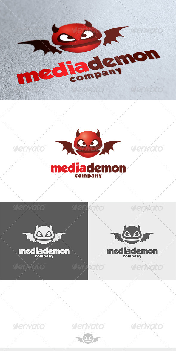 GraphicRiver Media Demon Logo 3615227