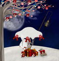 Christmas Background with Mushrooms - PhotoDune Item for Sale