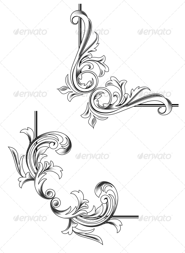 GraphicRiver Swirl Elements 3617976
