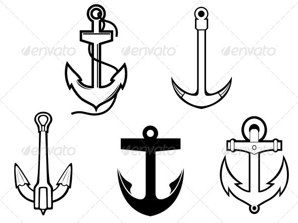 GraphicRiver Set of Anchor Symbols 3617987