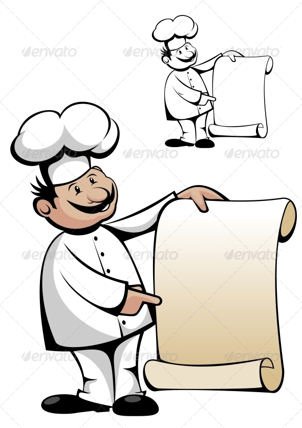 GraphicRiver Chef in Uniform with Menu 3617988