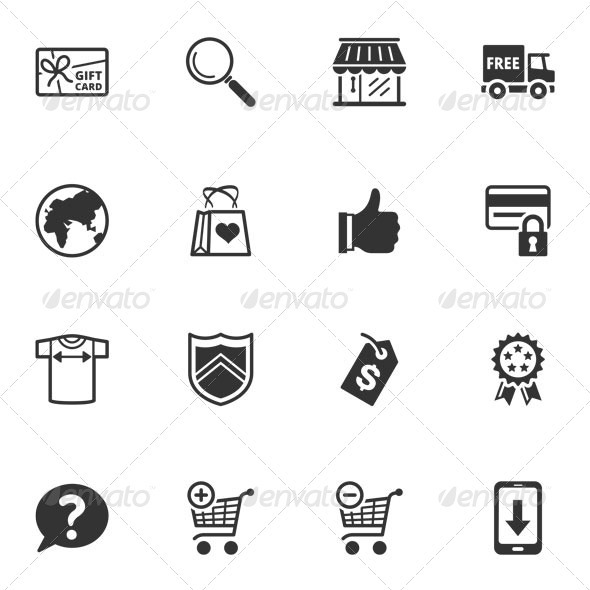 Shopping and E-commerce Icons - Set 2 - Web Icons