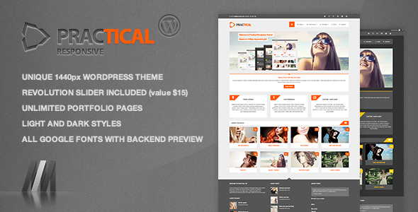Practical WP - Responsive 1440px Theme