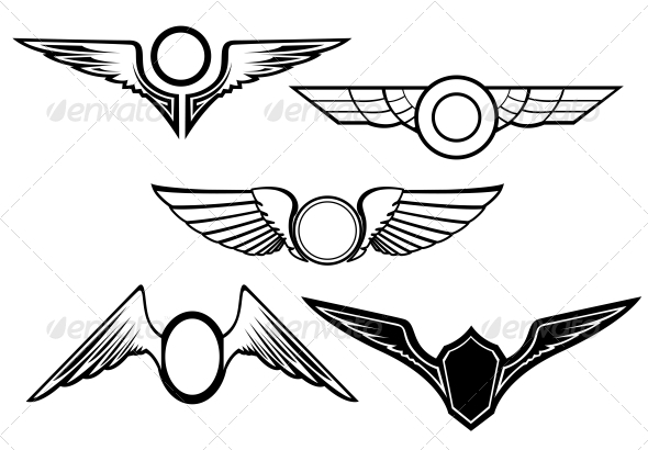 GraphicRiver Set of Wing Symbols 3619517