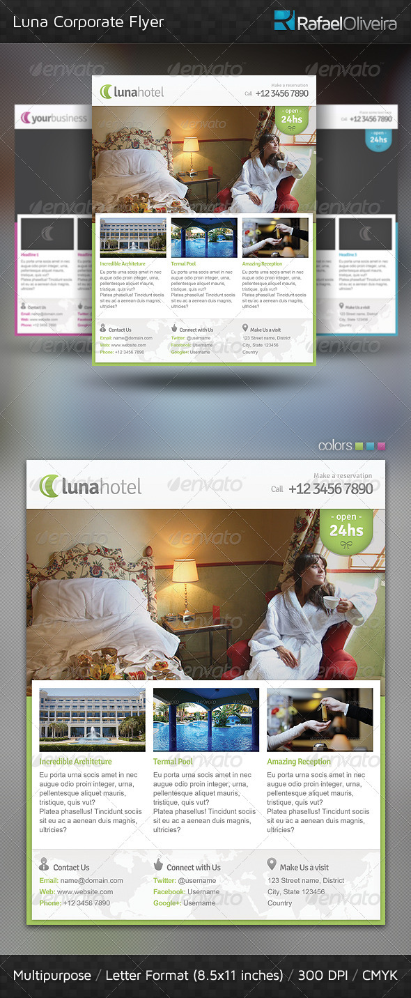 Luna Corporate Flyer - Corporate Flyers