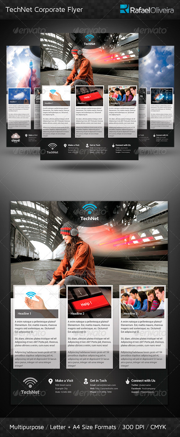 GraphicRiver TechNet Corporate Flyer 3096758