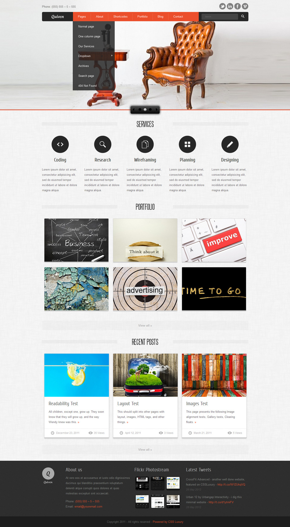 Quiven Portfolio WordPress Theme