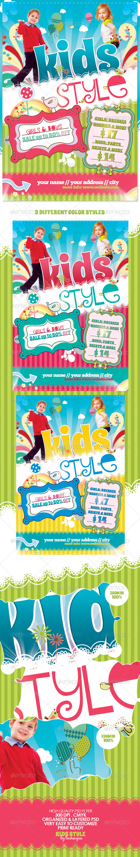 Kids Style Flyer Template Graphicriver
