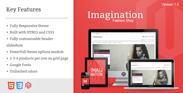 ThemeForest Imagination Responsive Magento Theme 3621552