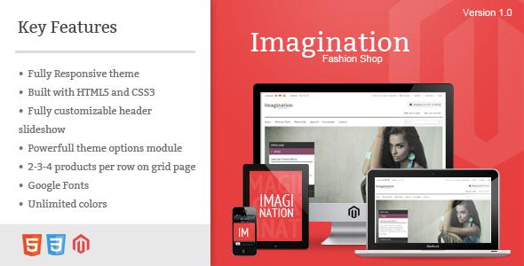ThemeForest Imagination Responsive Magento Theme 3621552