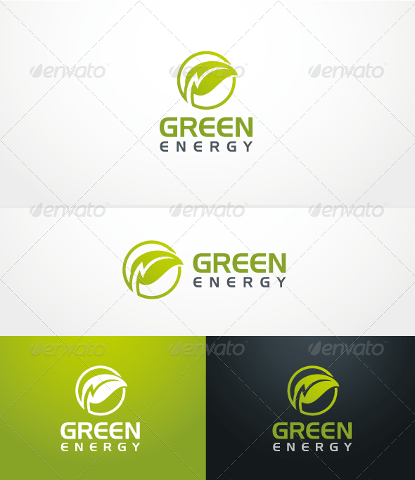 GraphicRiver Green Energy Logo Template 3621991