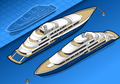 Isometric Yacht in Two Positions - PhotoDune Item for Sale
