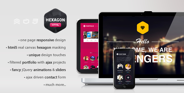 Hexagon - Creative & Responsive One Page Portfolio