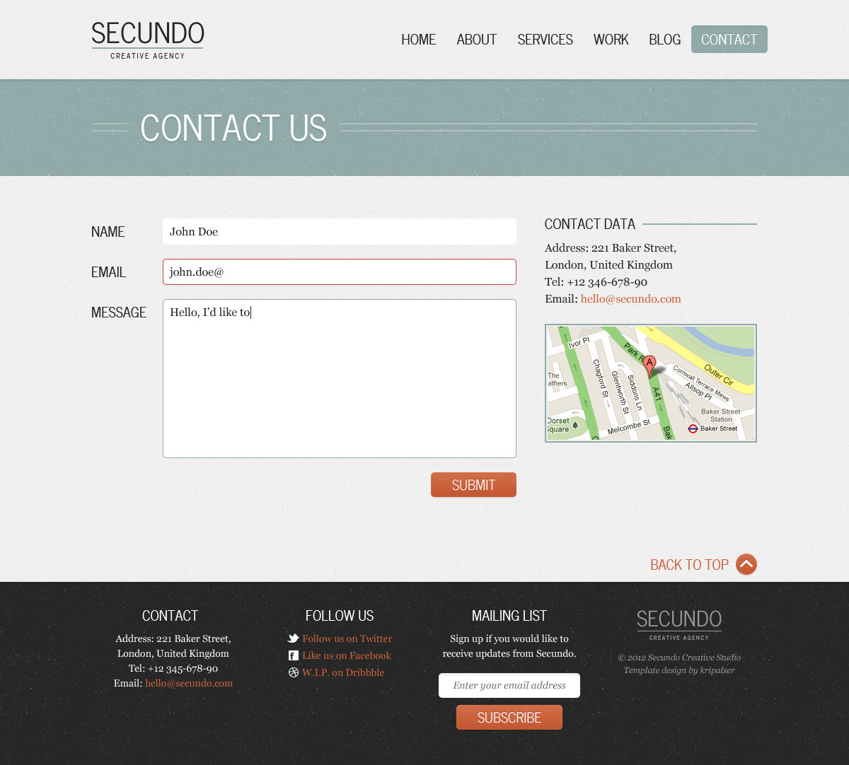 Secundo Site Template