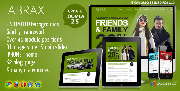 Abrax Template for Joomla - PHAETON TEMPLATE FOR JOOMLA