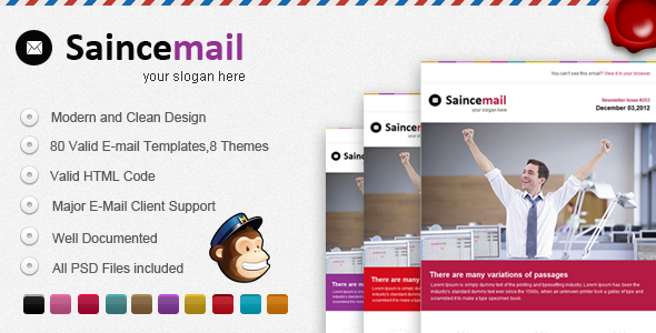 Saincemail E-mail Template - Email Templates Marketing
