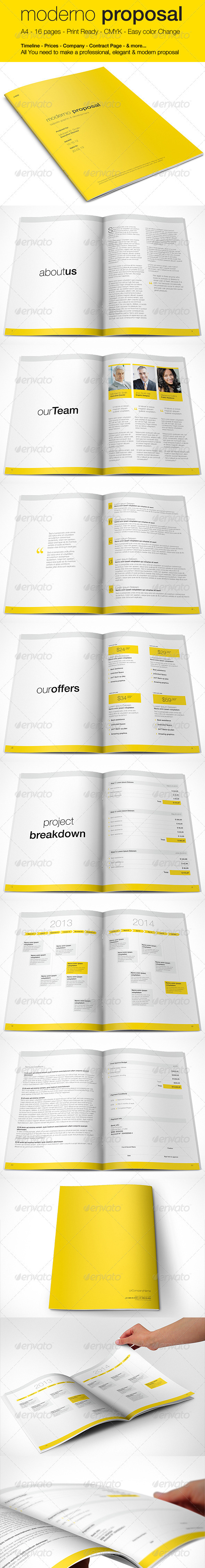 Moderno Project Proposal | Multipurpose Template - Proposals & Invoices Stationery