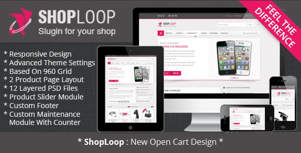 ThemeForest Shoploop Responsive HTML5 OpenCart Theme 3600540