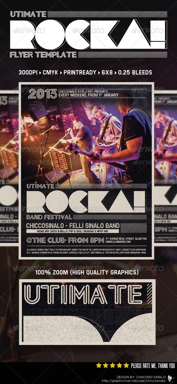 Rocka Flyer Template - Events Flyers
