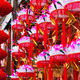Hanging paper lotus festival lanterns - PhotoDune Item for Sale