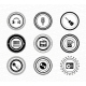 Set of Vintage Retro Black Music Labels - GraphicRiver Item for Sale