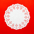 a round white pattern paper on red background - PhotoDune Item for Sale