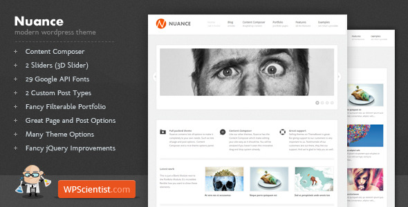 Nuance - Powerful Modern WordPress Theme