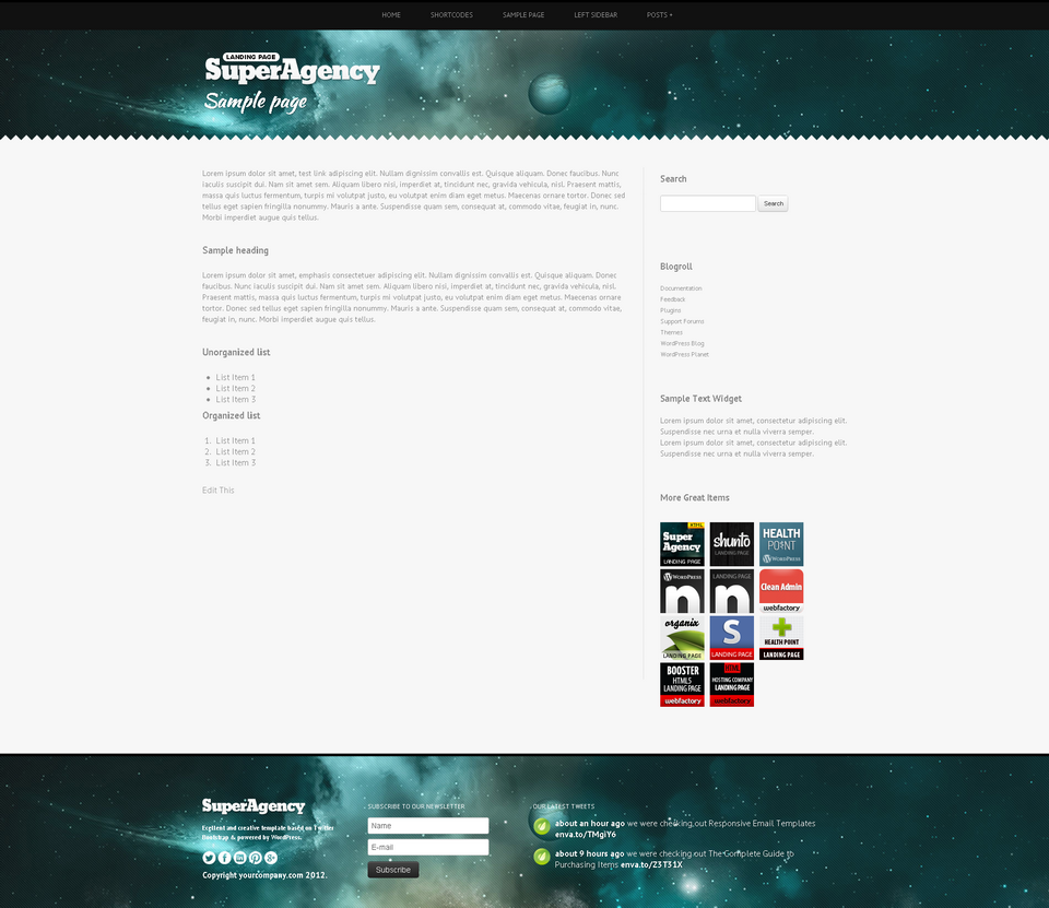 Super Agency - Responsive WordPress Single Page - Super Agency WordPress Theme - single page