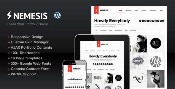 ThemeForest Nemesis Clean Design For Creative Designer 2577225