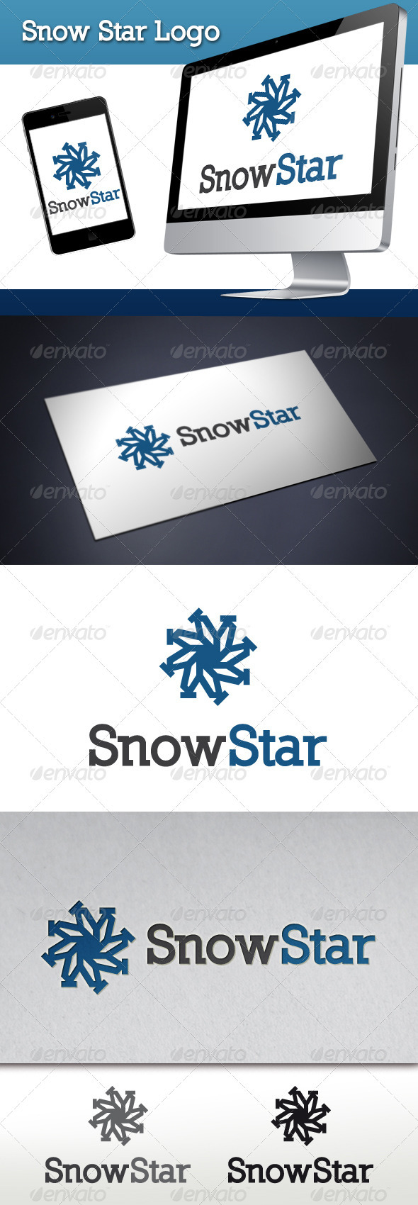 GraphicRiver Snow Star Logo Template 3582115