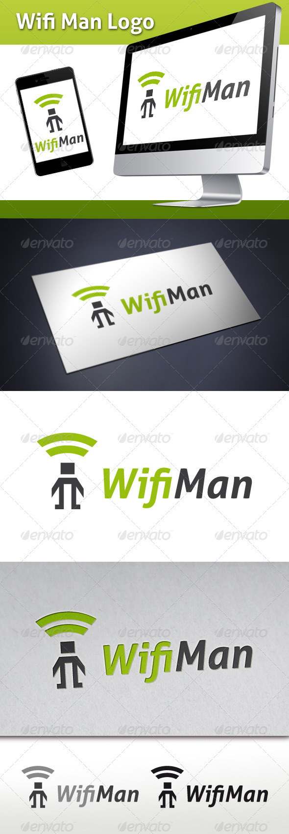 GraphicRiver Wifi Man Logo Template 3582811