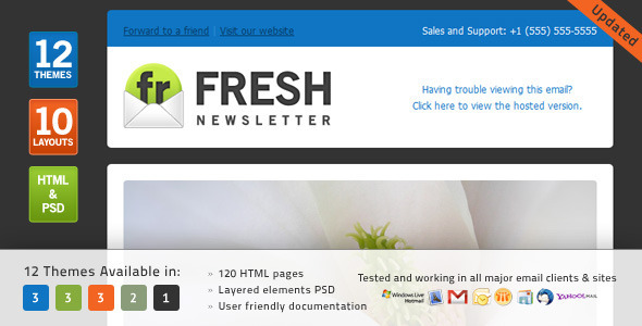 Fresh Newsletter - Newsletters Email Templates