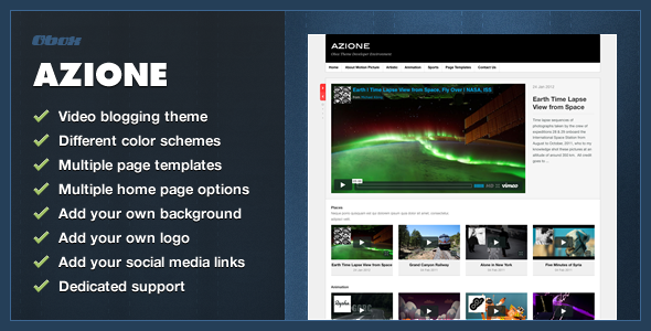 ThemeForest Azione WordPress Video Blogging Theme 1477763