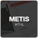 Metis Responsive Blog & Portfolio HTML Template - ThemeForest Item for Sale