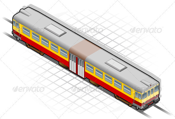 GraphicRiver Isometric Train 3629602