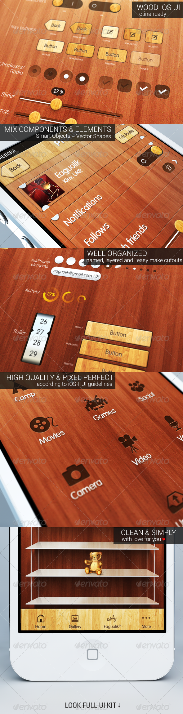 GraphicRiver iOS Wood UI Kit 3548296