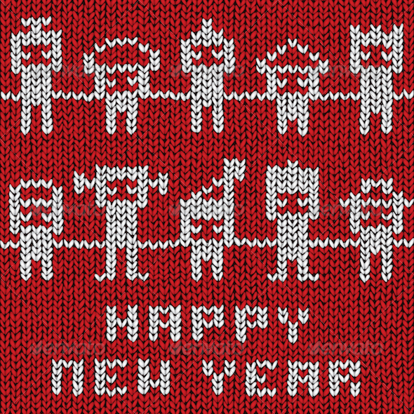GraphicRiver Happy New Year Sweater 3630699