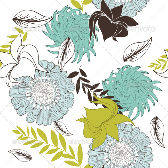 GraphicRiver Seamless Floral Pattern 3631021
