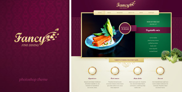 Fancy -  website for upscale and fancy restaurant