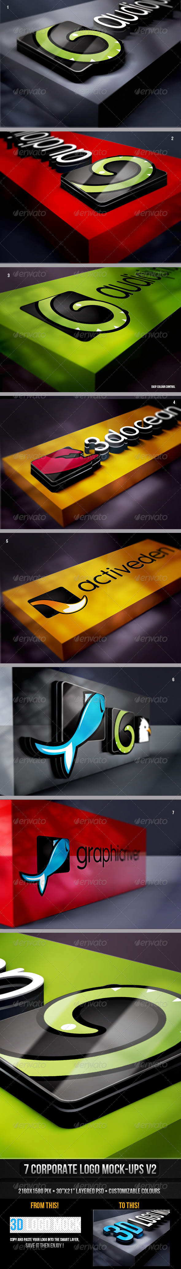 Corporate Logo Mock-up v2 - Logo Product Mock-Ups