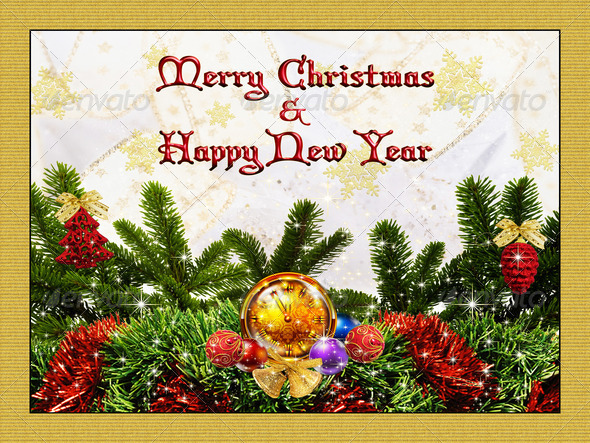 Merry Christmas Card 6 - Stock Photo - Images