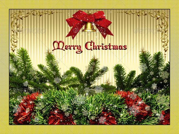 Merry Christmas Card 8 - Stock Photo - Images