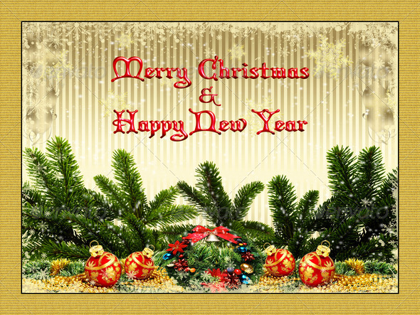 Merry Christmas Card 10 - Stock Photo - Images