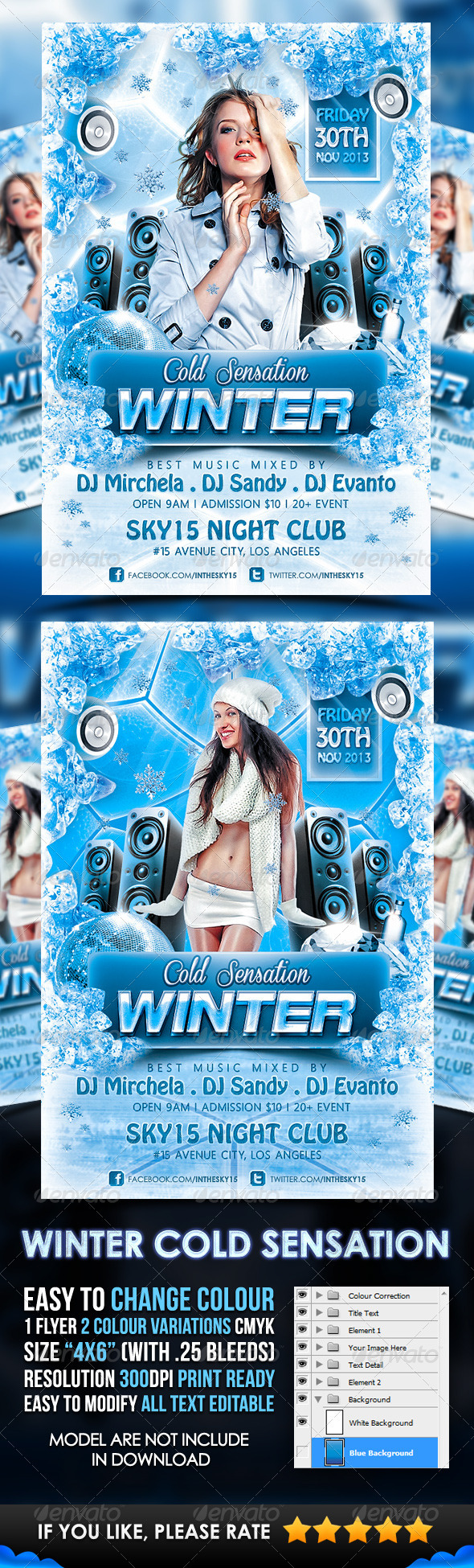 GraphicRiver Winter Cold Sensation Flyer Template 3442261