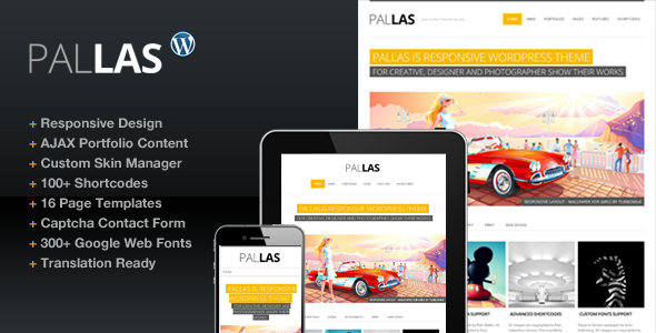ThemeForest Pallas Creative Designer Portfolio Theme 3001778