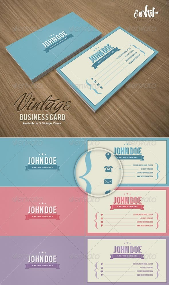 GraphicRiver Vintage Business Card 3597749