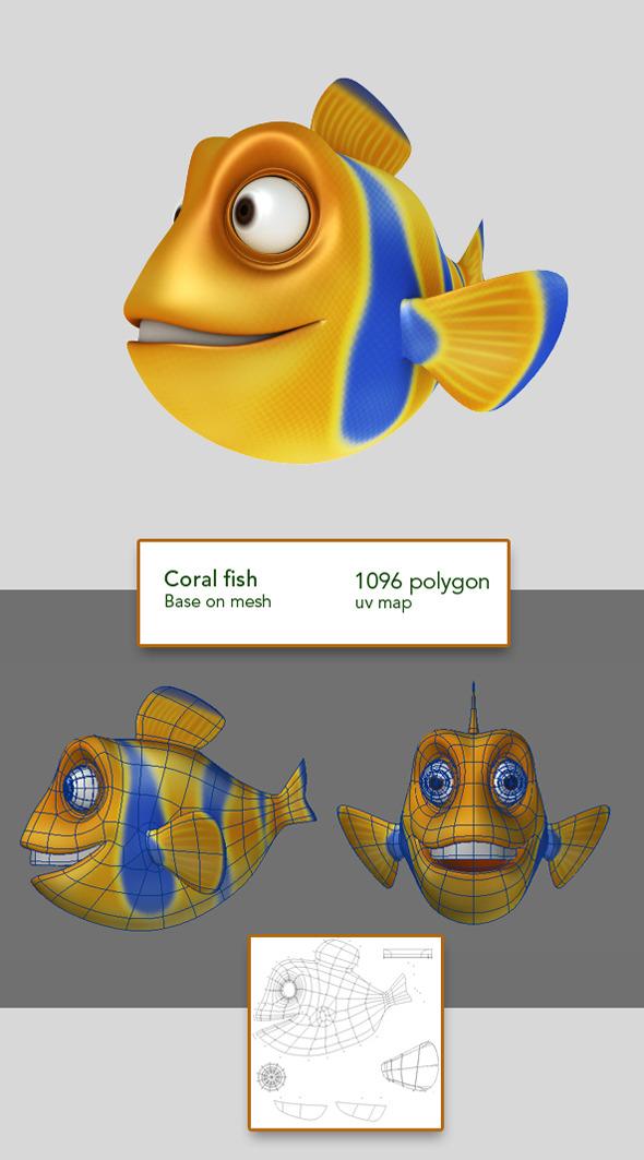 3DOcean Coral Fish 3632964