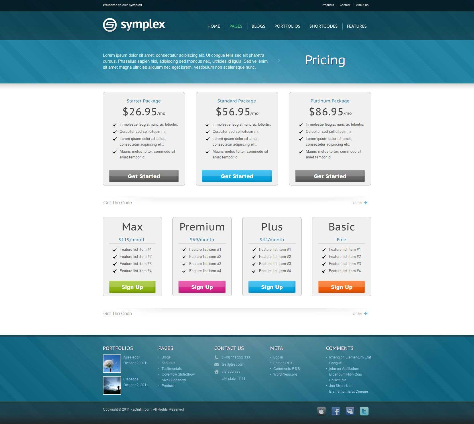 Symplex Premium & Portfolio Theme for Creative - Left sidebar layout